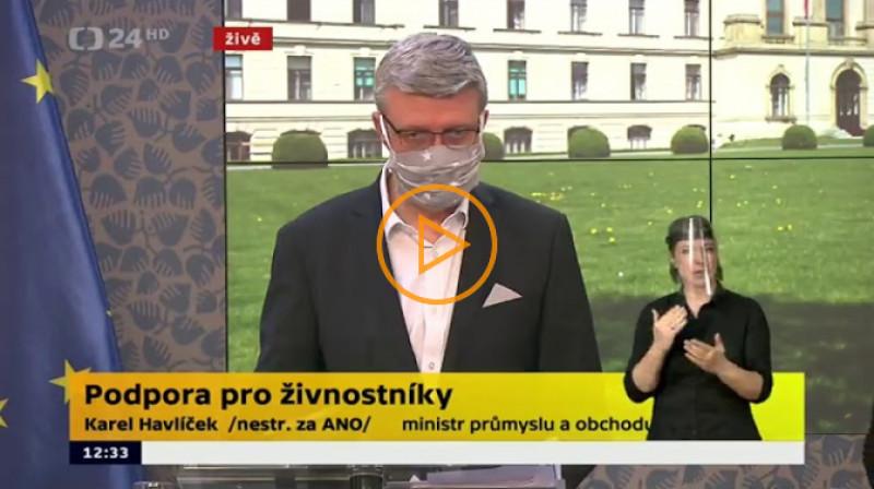 ČT24: Tisková konference TK po mimořádném jednání vlády