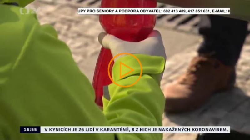 ČT24: Některé pražské částí dávají dezinfekci
