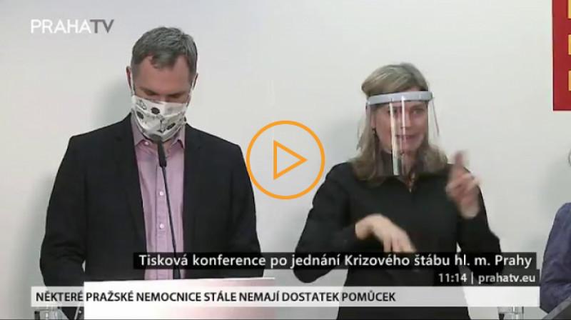 Praha TV: Tisková konference po jednání krizového štábu hl. města Prahy