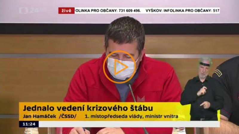 ČT24: Tisková konference po jednaní krizového štábu