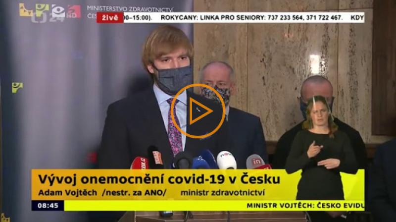 ČT24: Vývoj onemocnění covid-19 v Česku