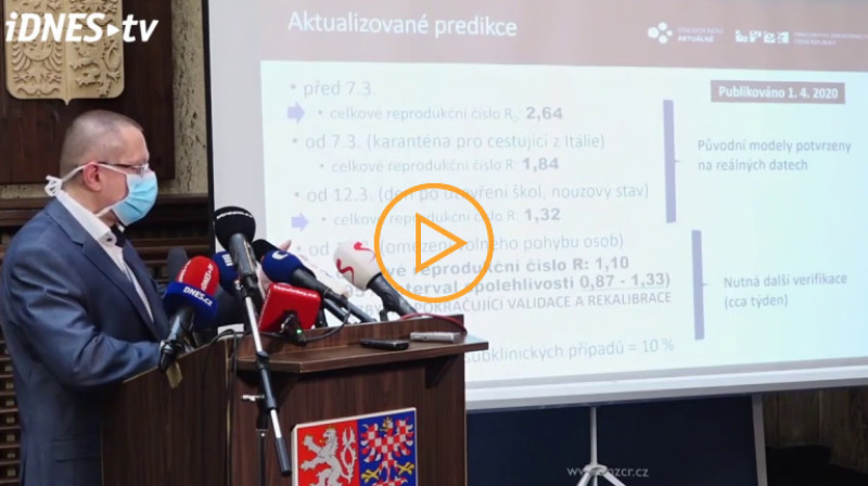 iDnes: Vývoj je optimističtější, než jsme před týdnem odhadovali, řekl Dušek z ÚZIS