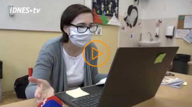 iDnes: Z výuky přes internet jsou děti nadšené, říká učitelka