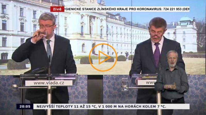 ČT24: Tisková konference vlády