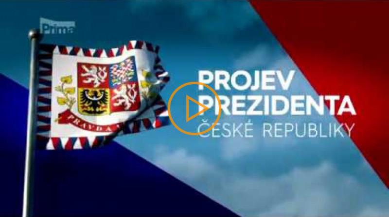 TV Prima: Projev prezidenta České republiky Miloše Zemana k národu