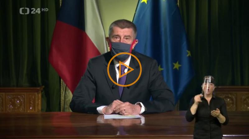 ČT24: Projev premiéra Andreje Babiše